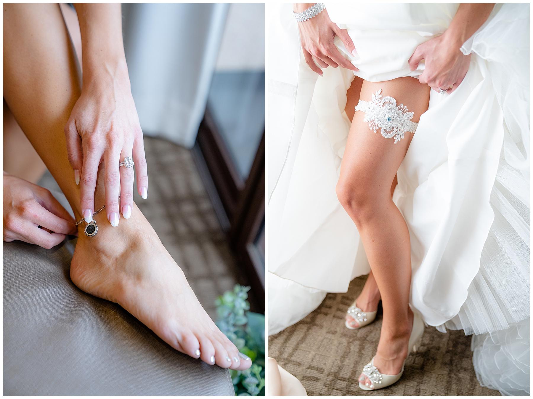 bride anklet and garter