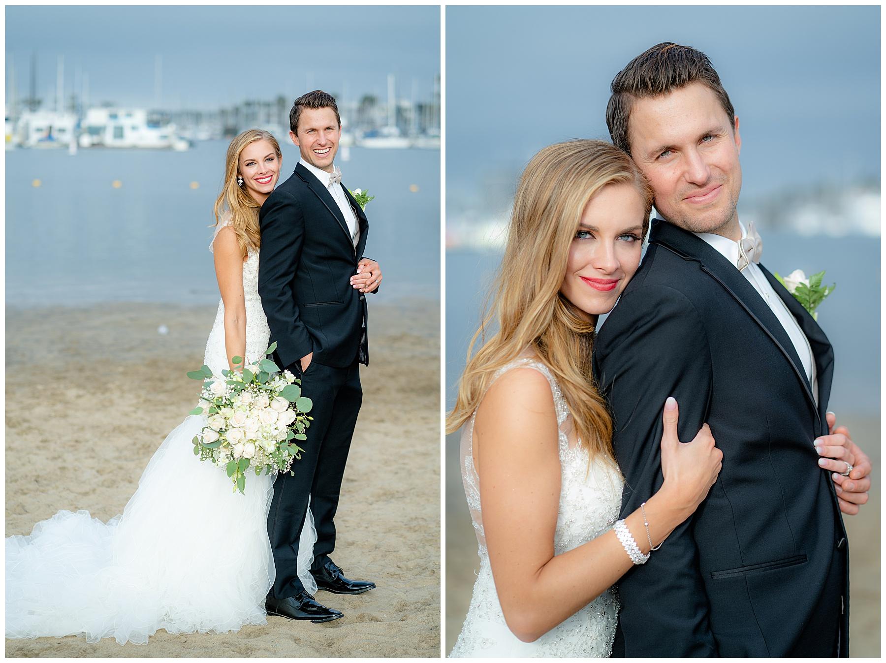 beach wedding portrait
