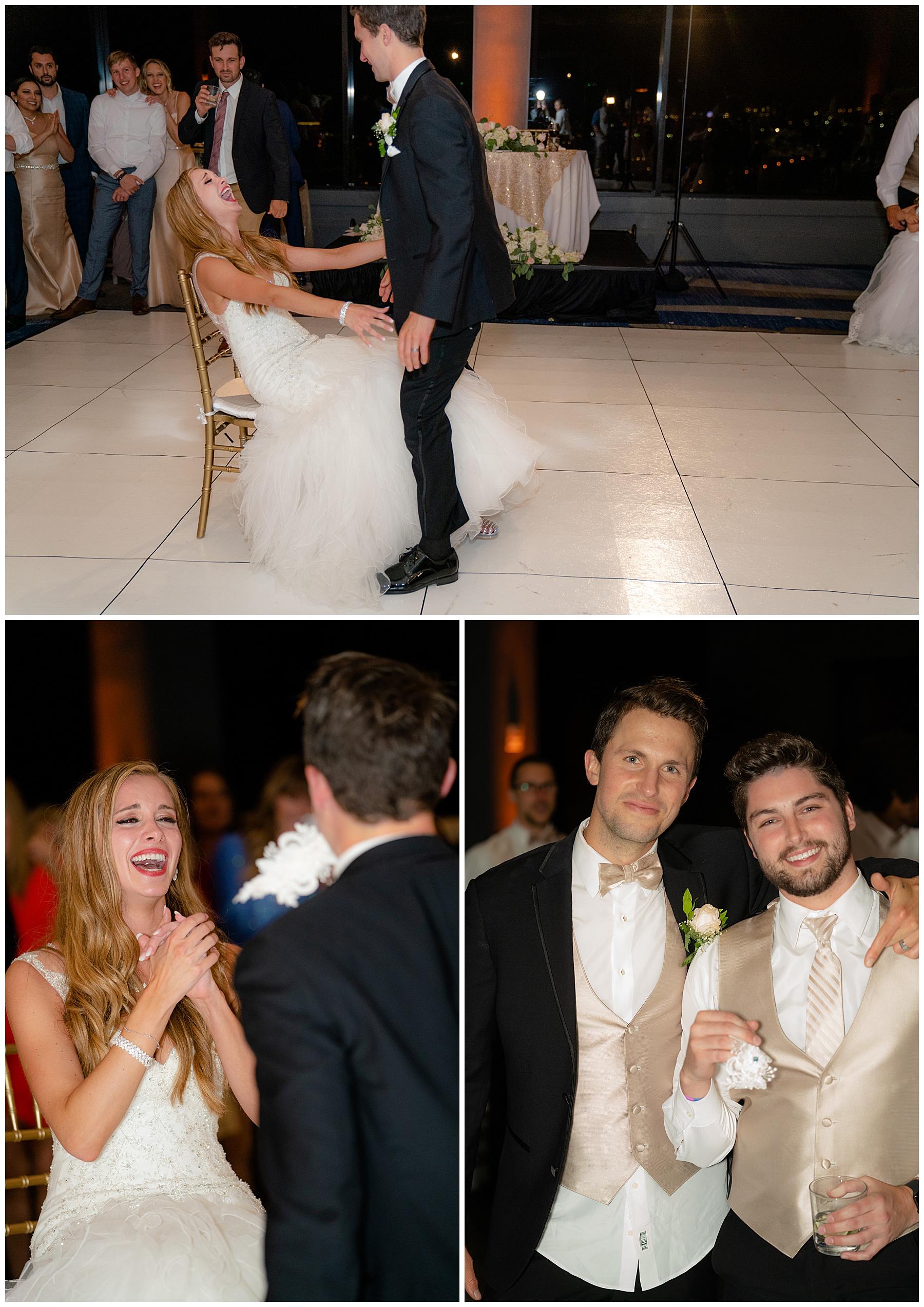 garter toss marriott marina del rey wedding