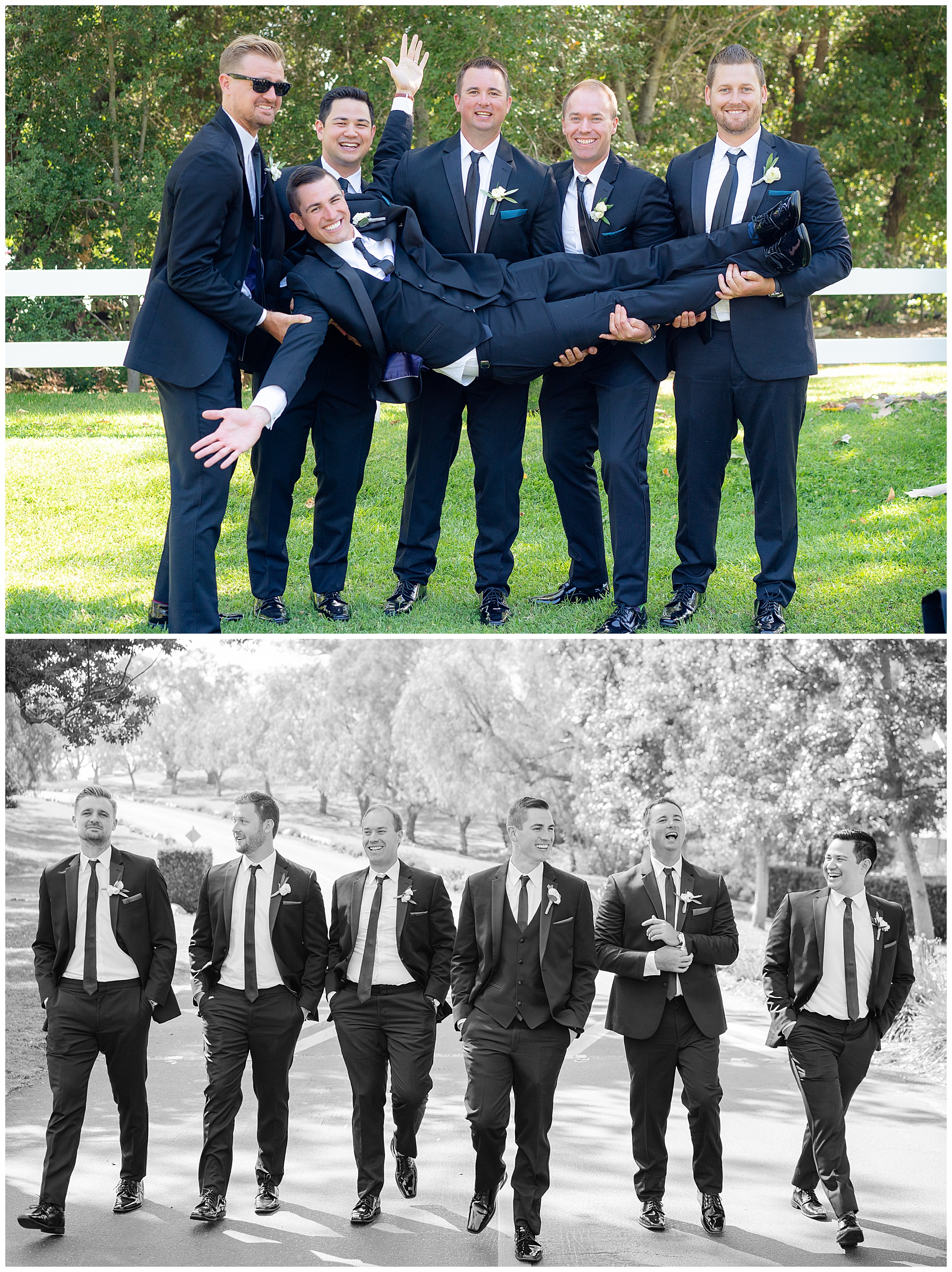 coto valley country club wedding groomsmen