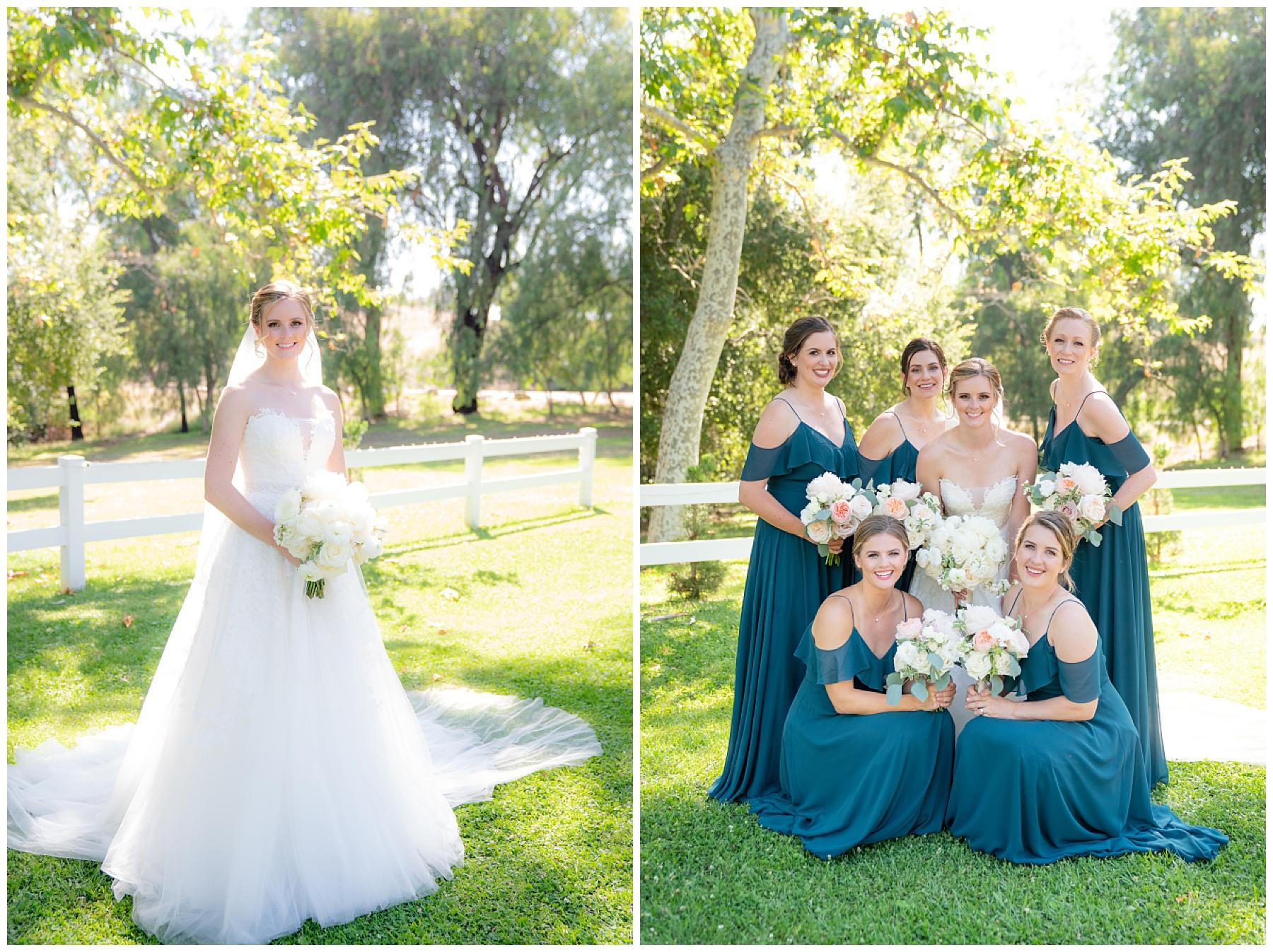 teal bridal party dress