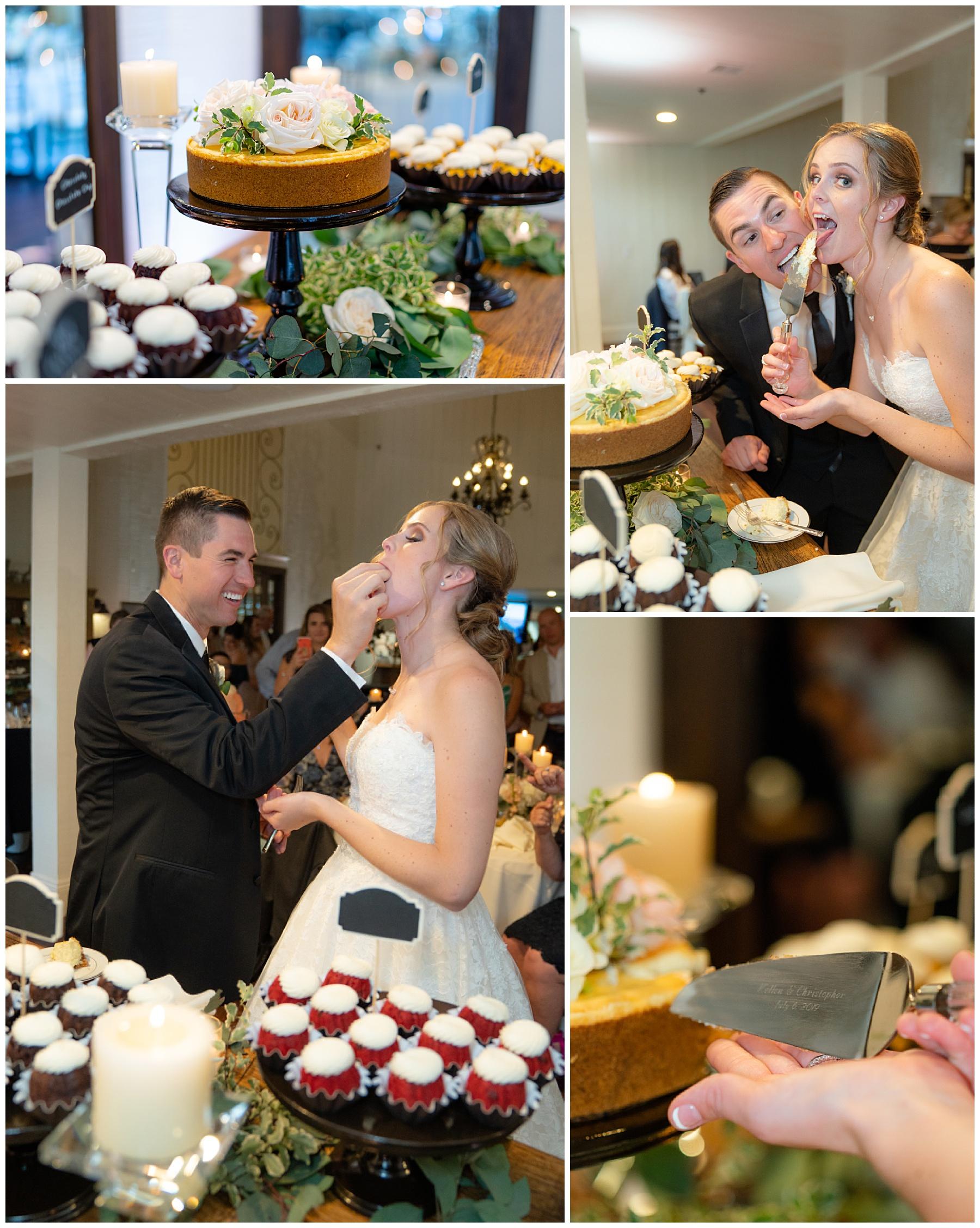 wedding cake cutting non traditional