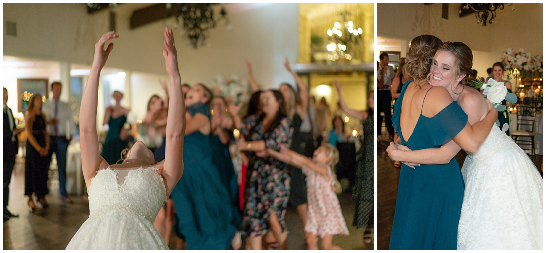bouquet toss coto valley country club wedding