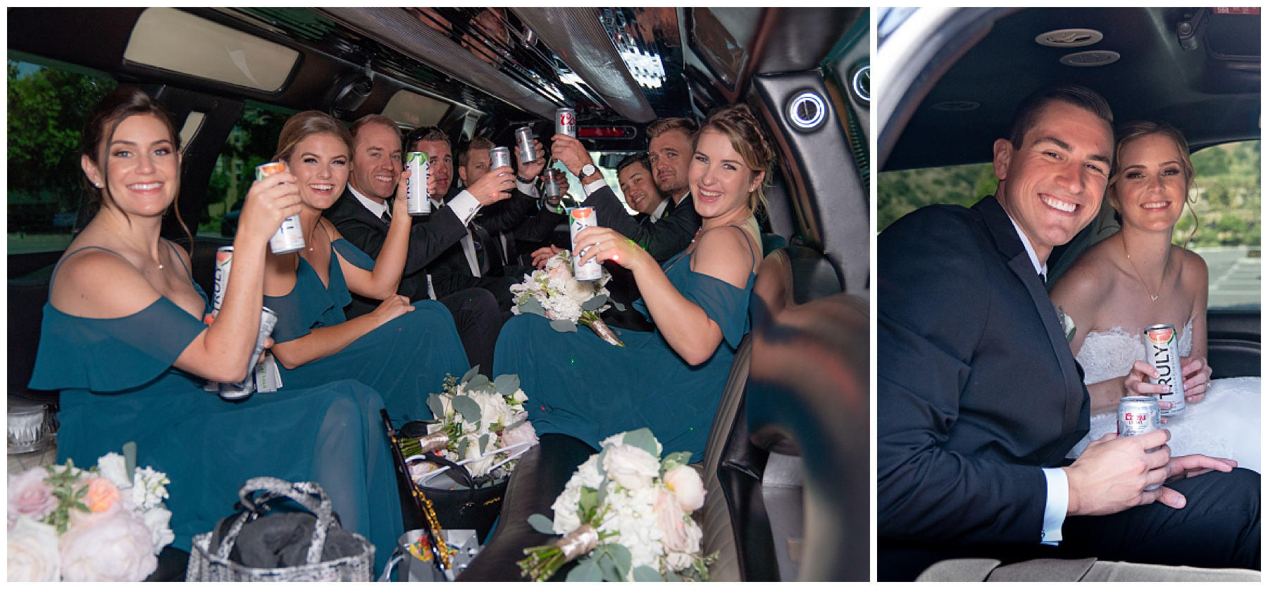 limo drive to reception