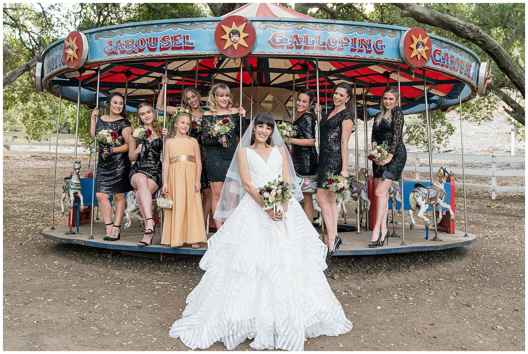 saddlerock ranch vineyard wedding carousel