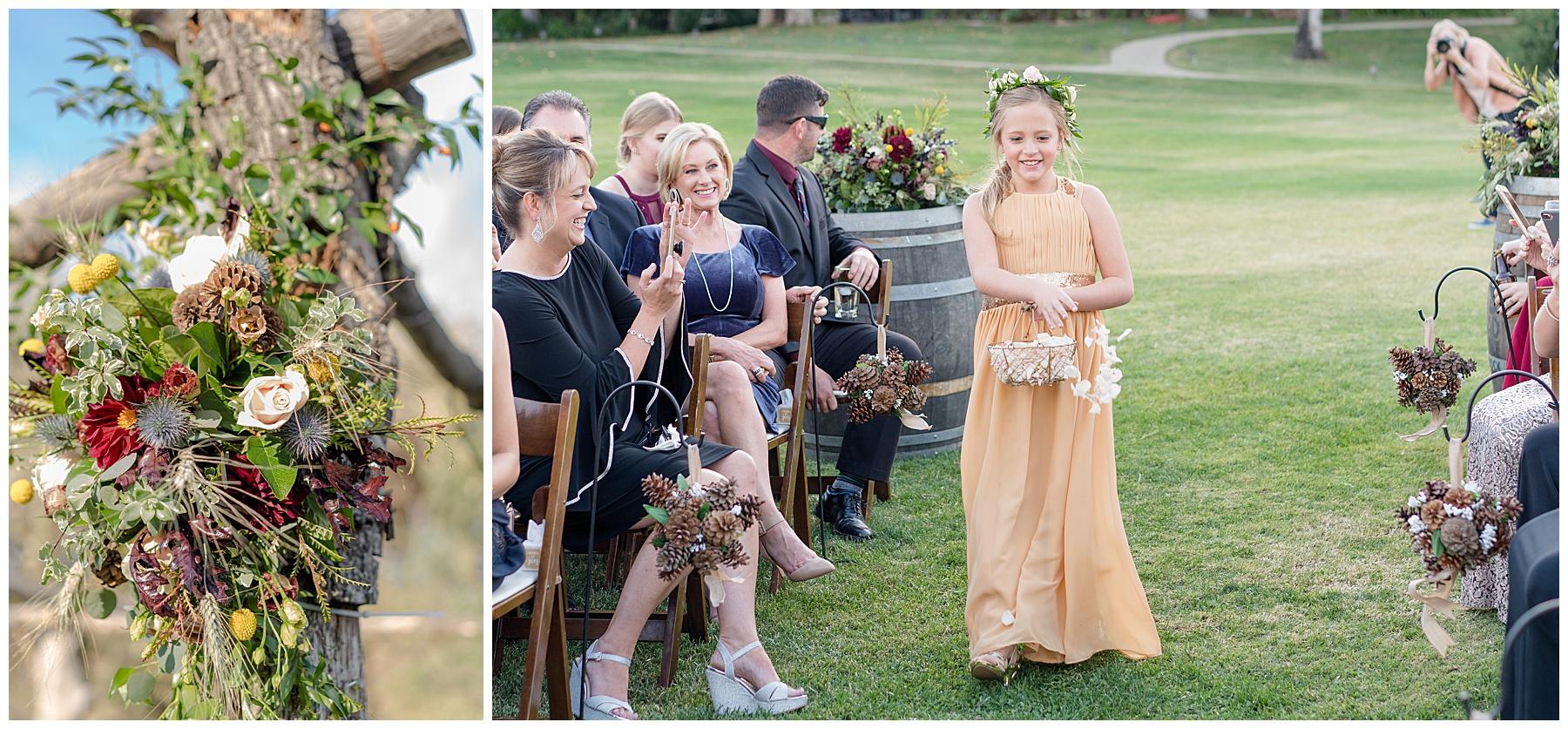 saddlerock ranch vineyard wedding