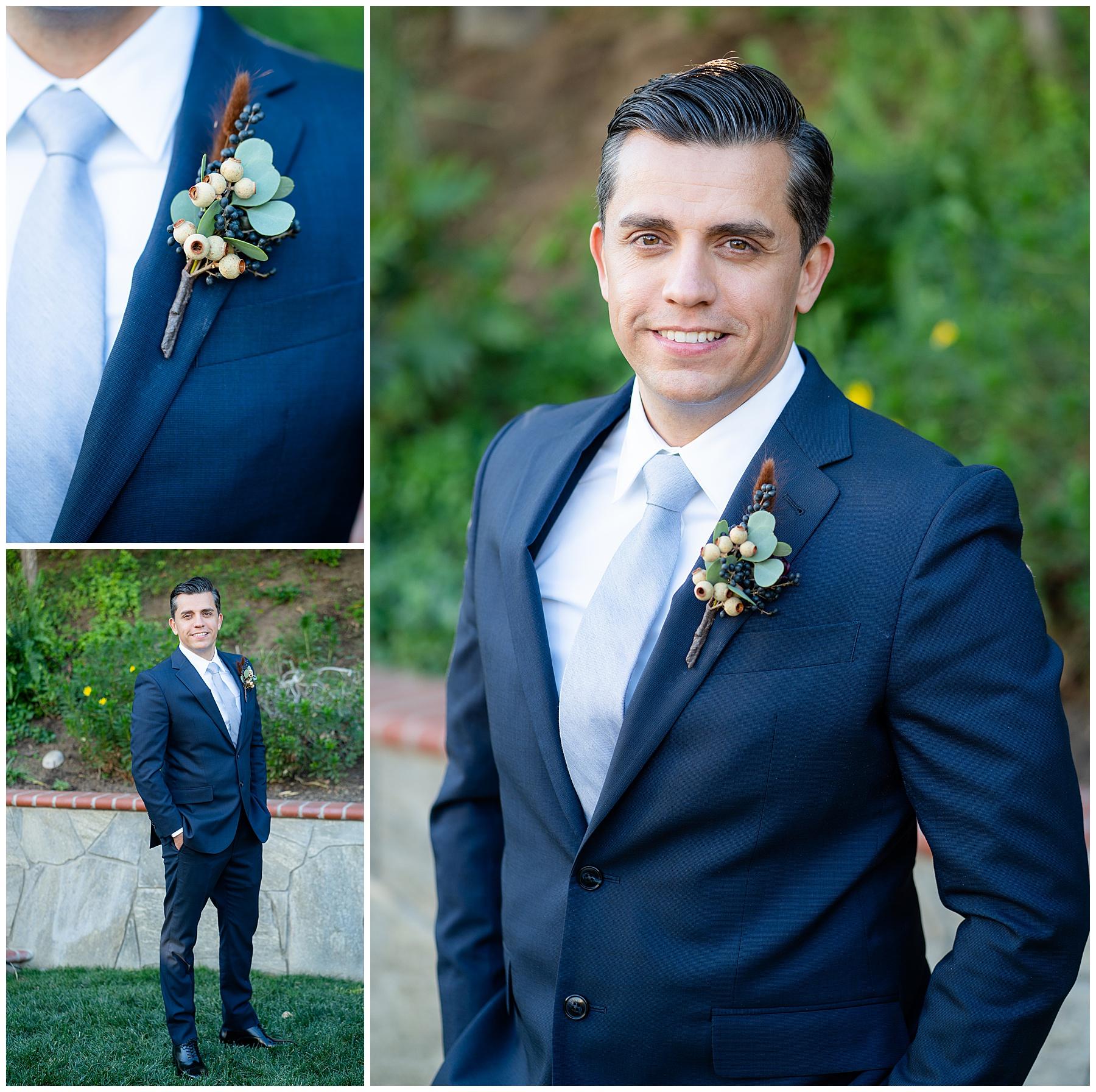 navy blue wedding suit