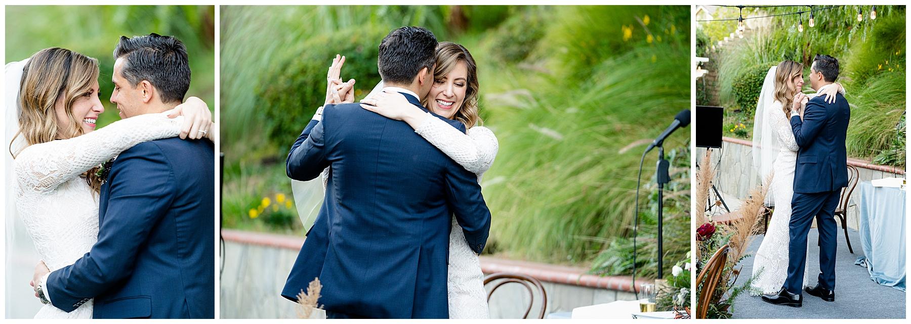 first dance backyard wedding