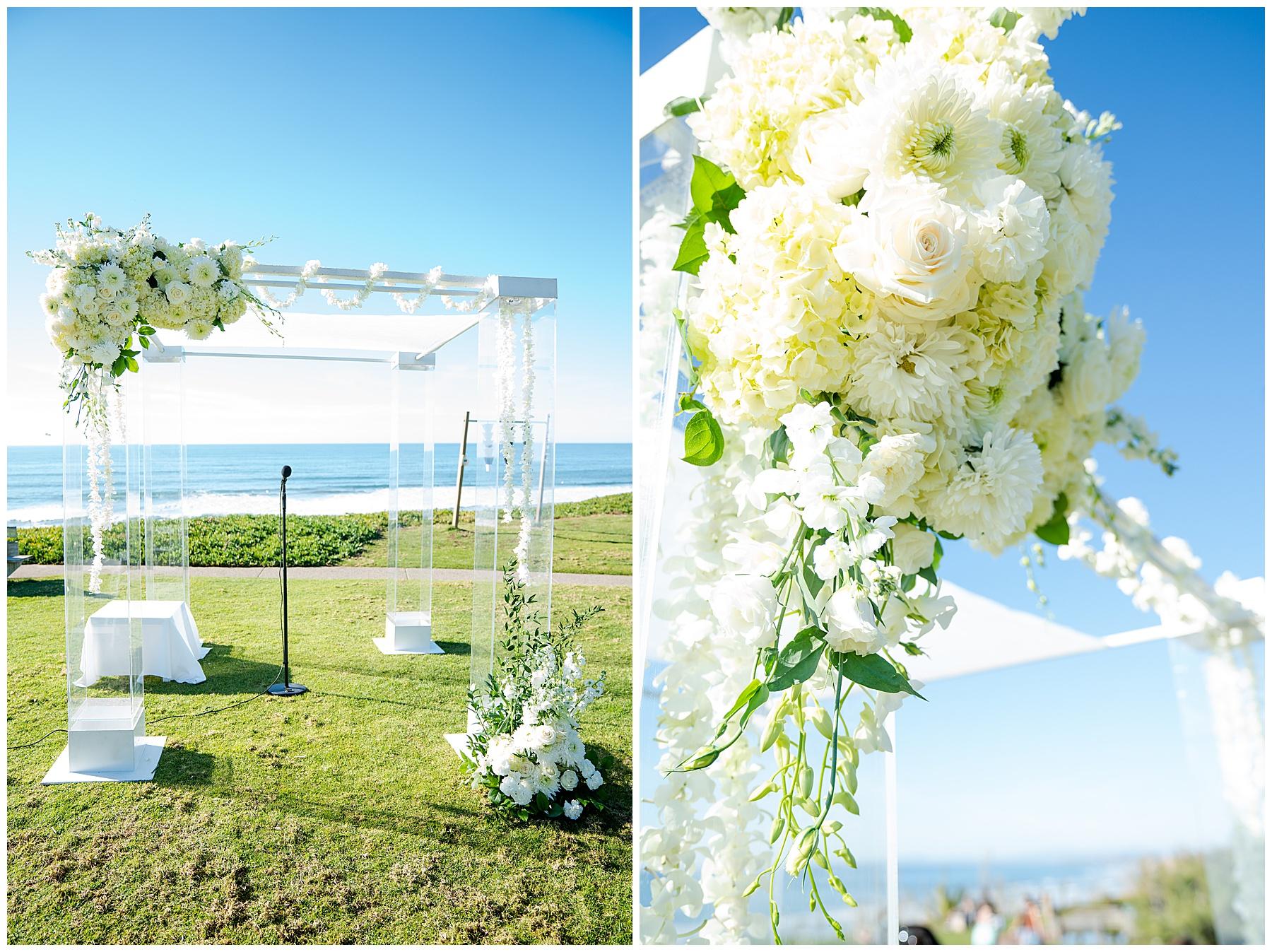seagrove park del mar wedding white flowers
