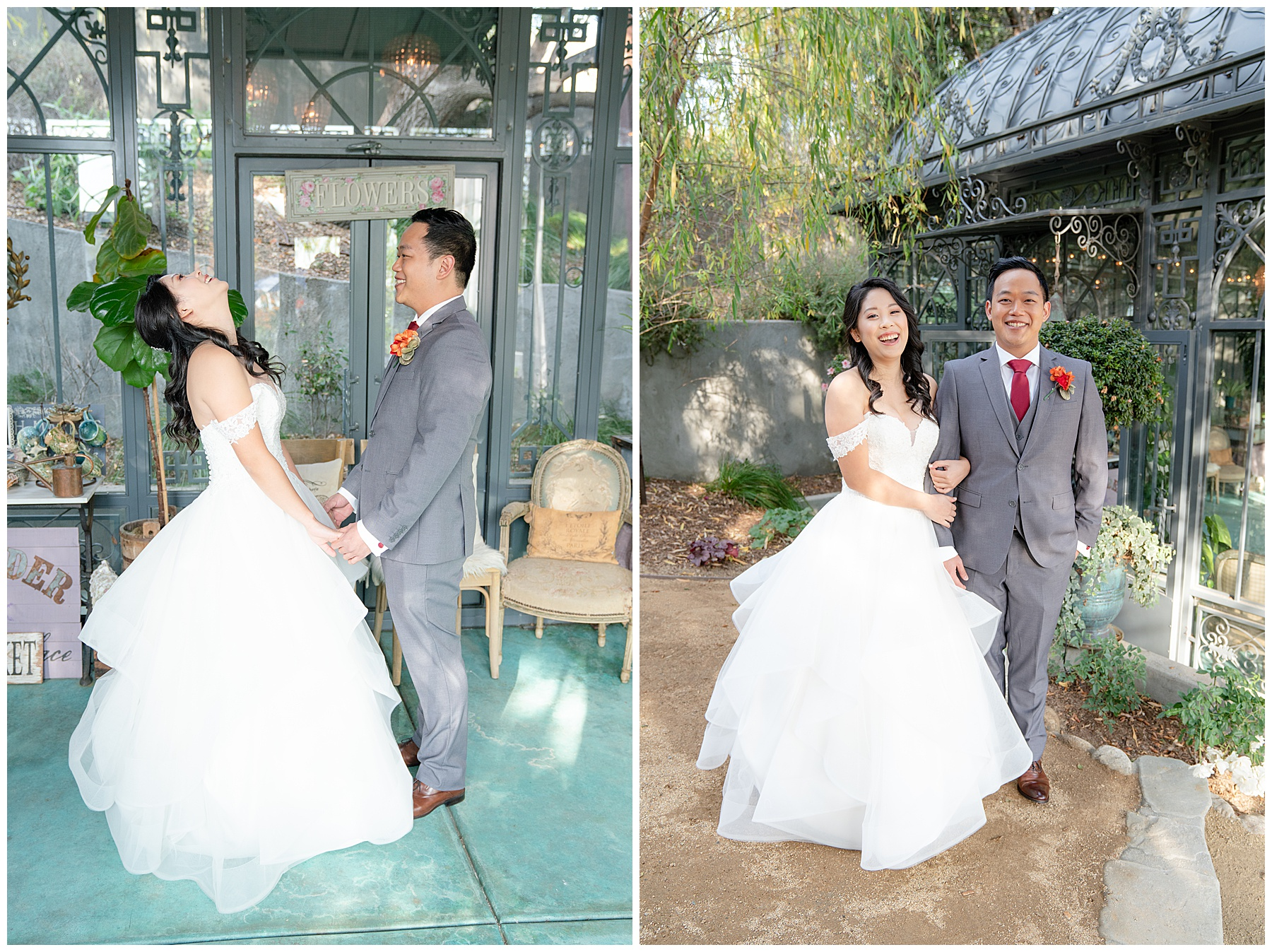 lavender marketplace wedding first look