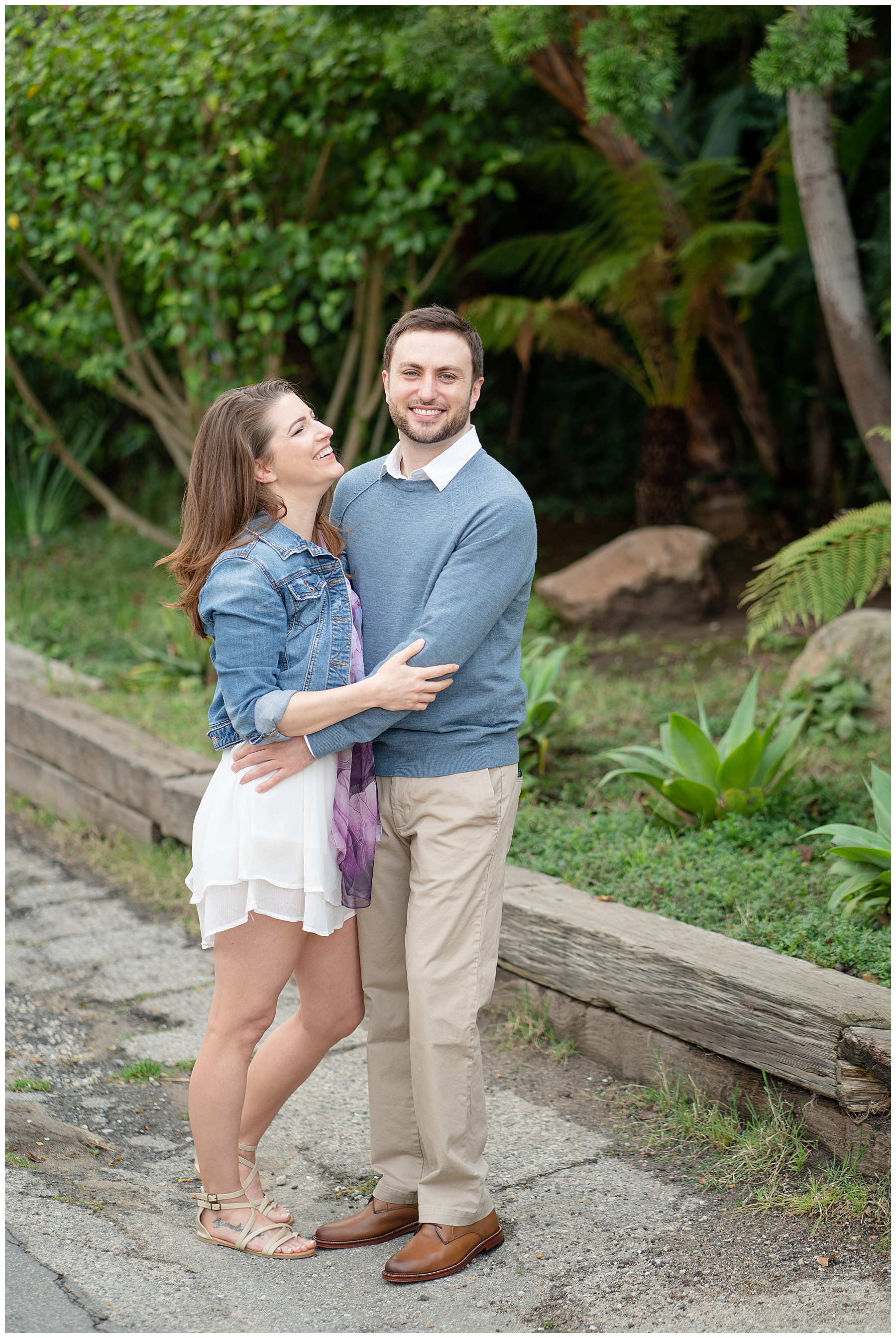 engagement photos in malibu