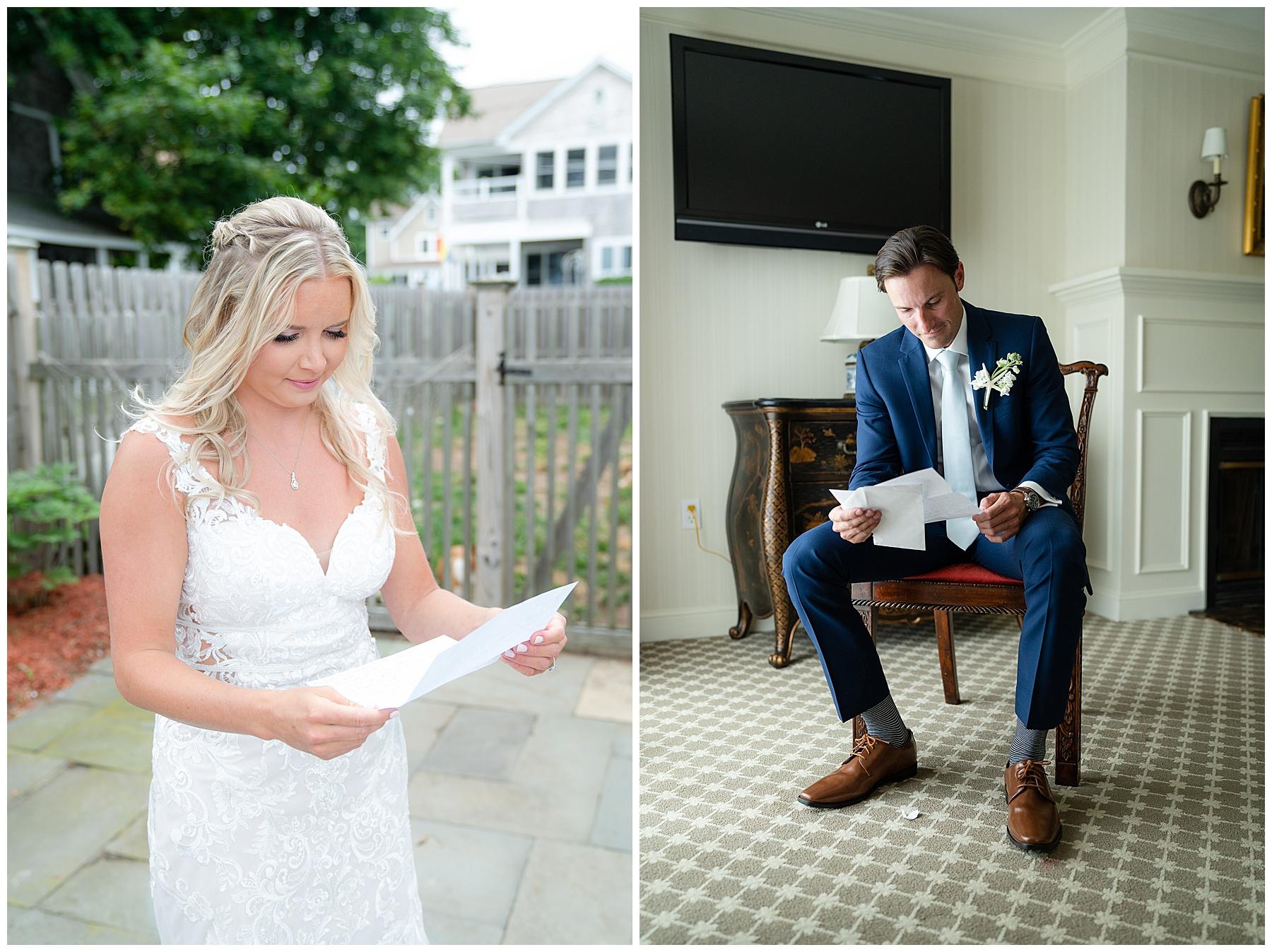 wedding day letter exchange
