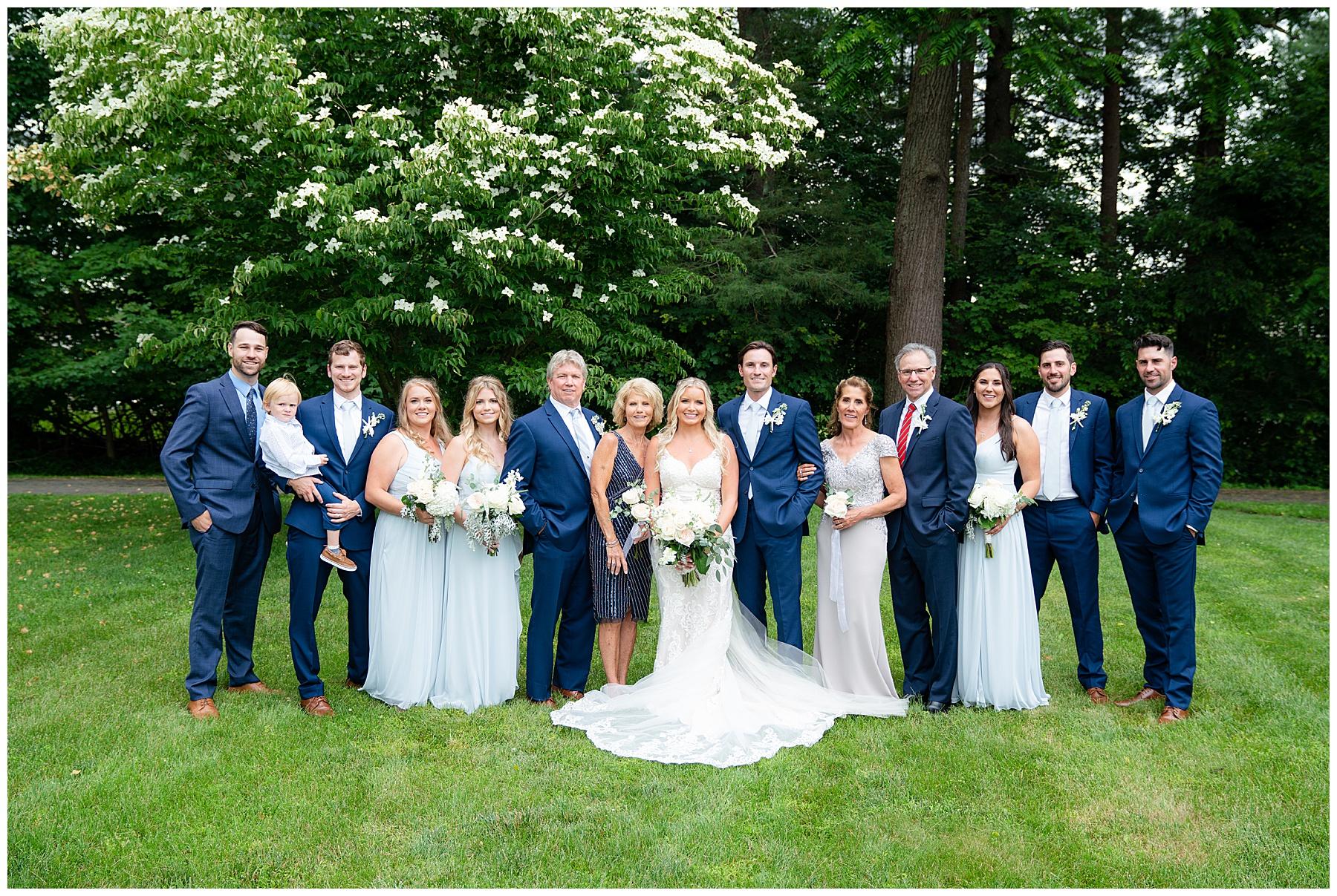 large wedding party photos