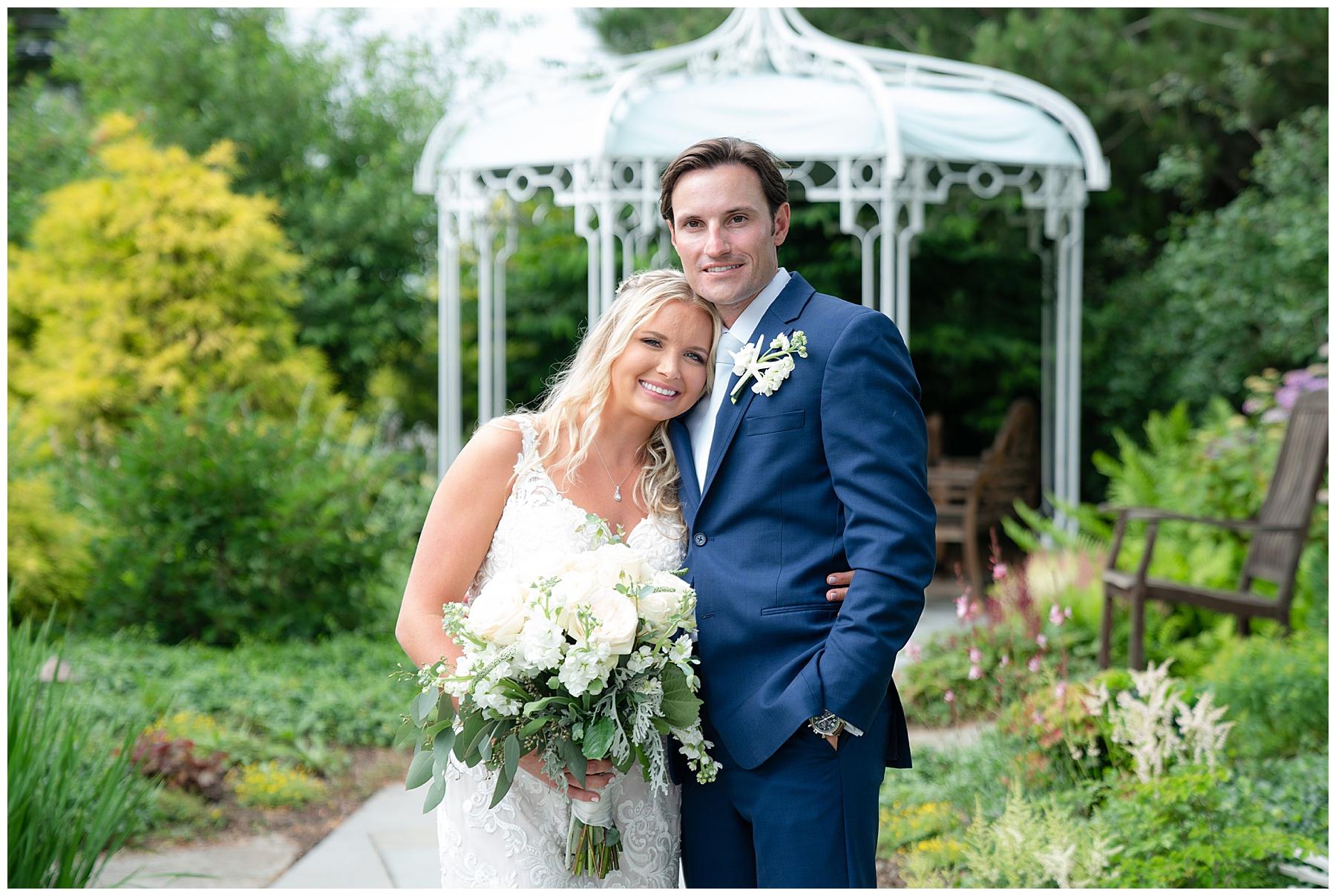 wedding under gazebo