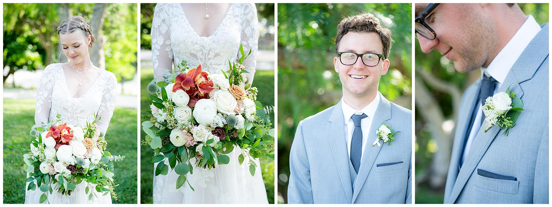 bride and groom closeups