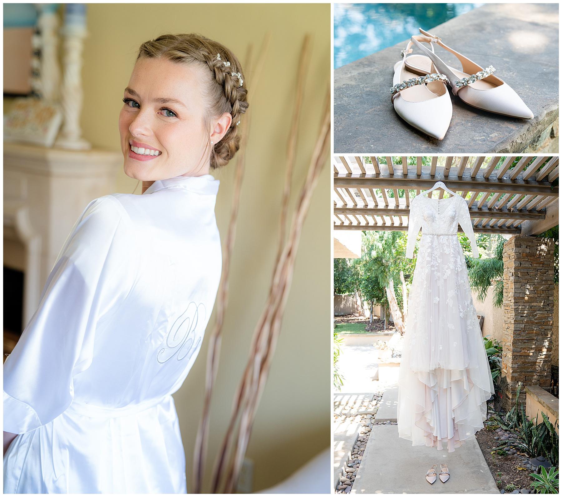 wedding hairdo with princess leia braids