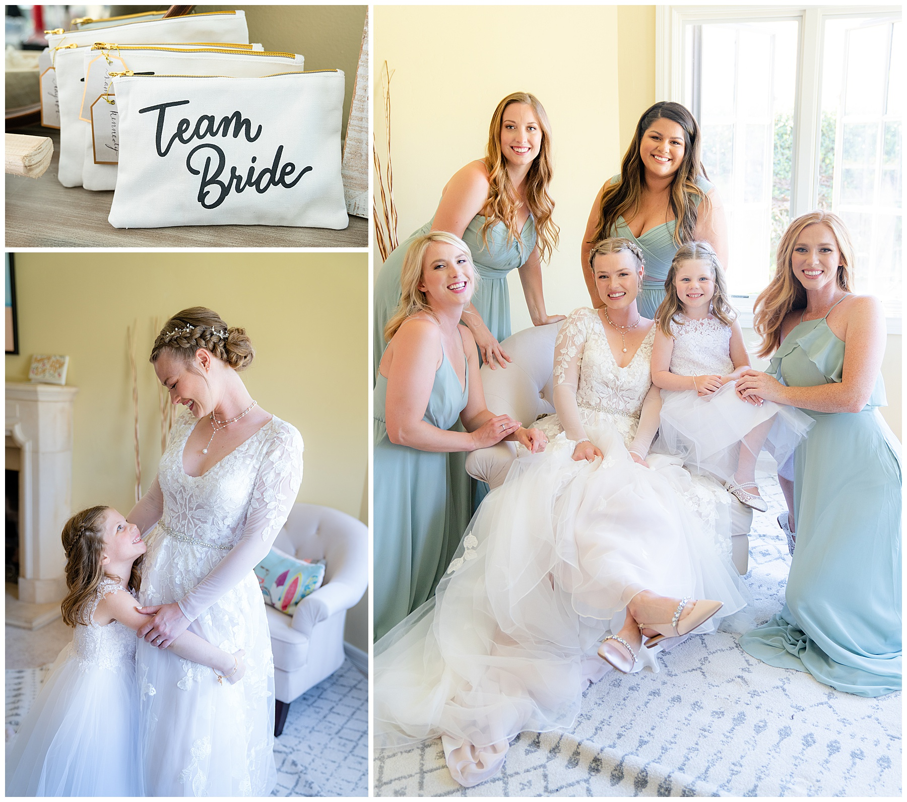 brides maids before wedding