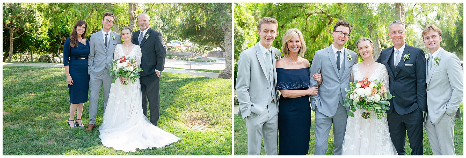 wedding family photo at talega golf club