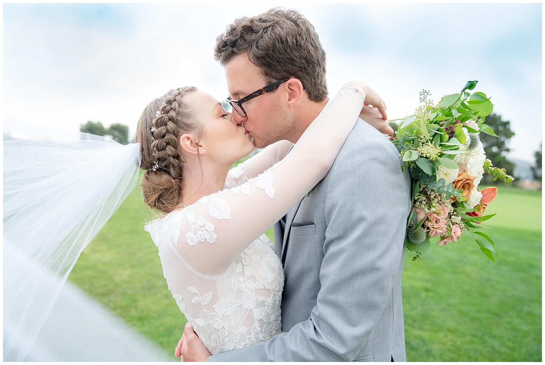 talega golf club wedding portrait