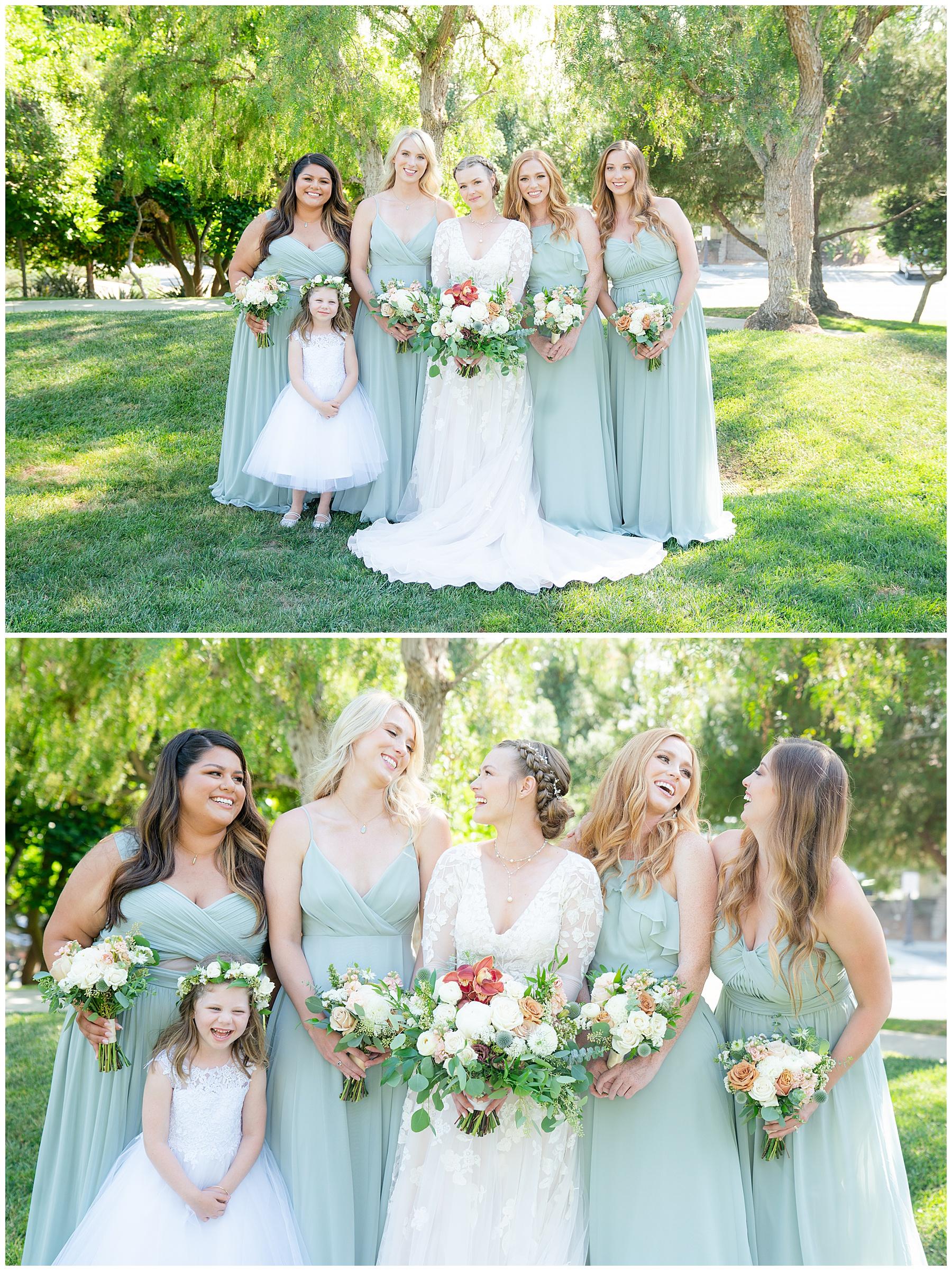 bridal party light blue dresses