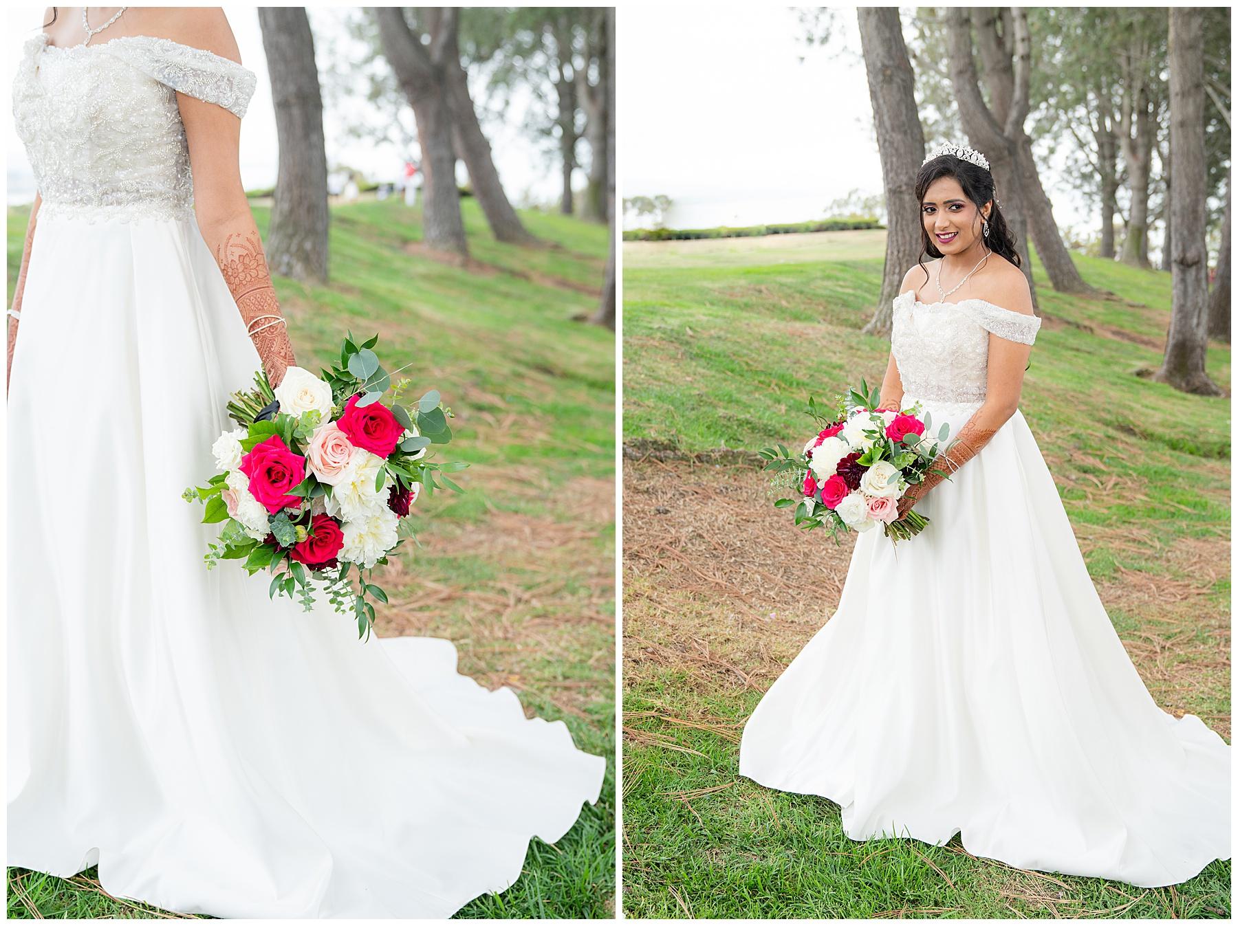 laguna cliffs wedding bride