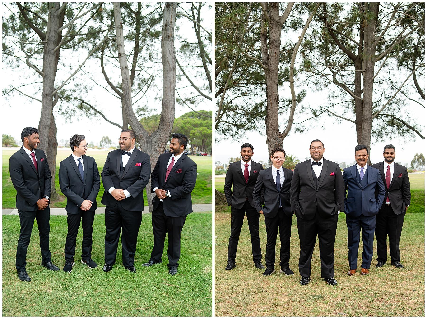 laguna cliffs wedding groomsmen