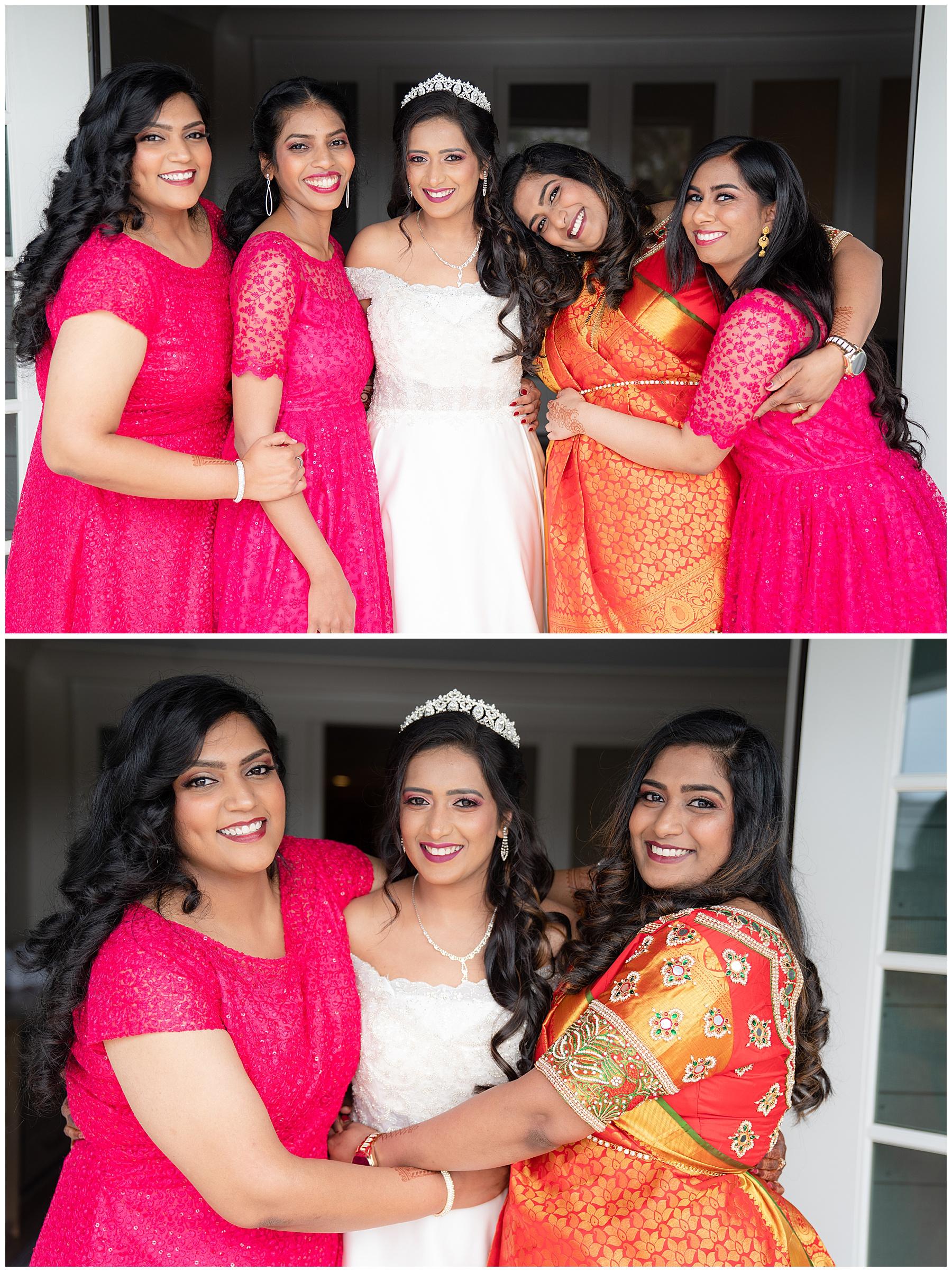 hot pink bridesmaids