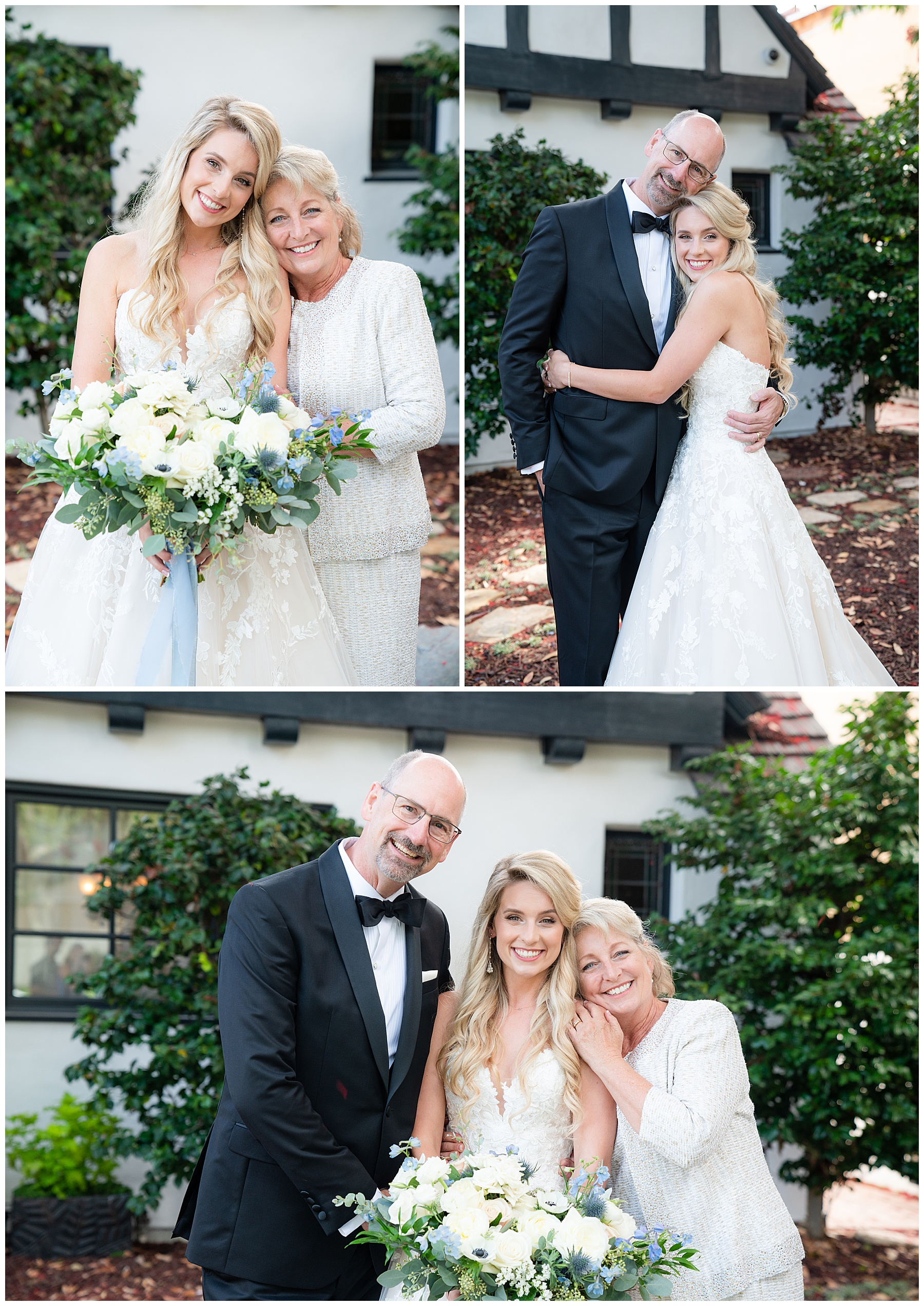 bridal portraits with family