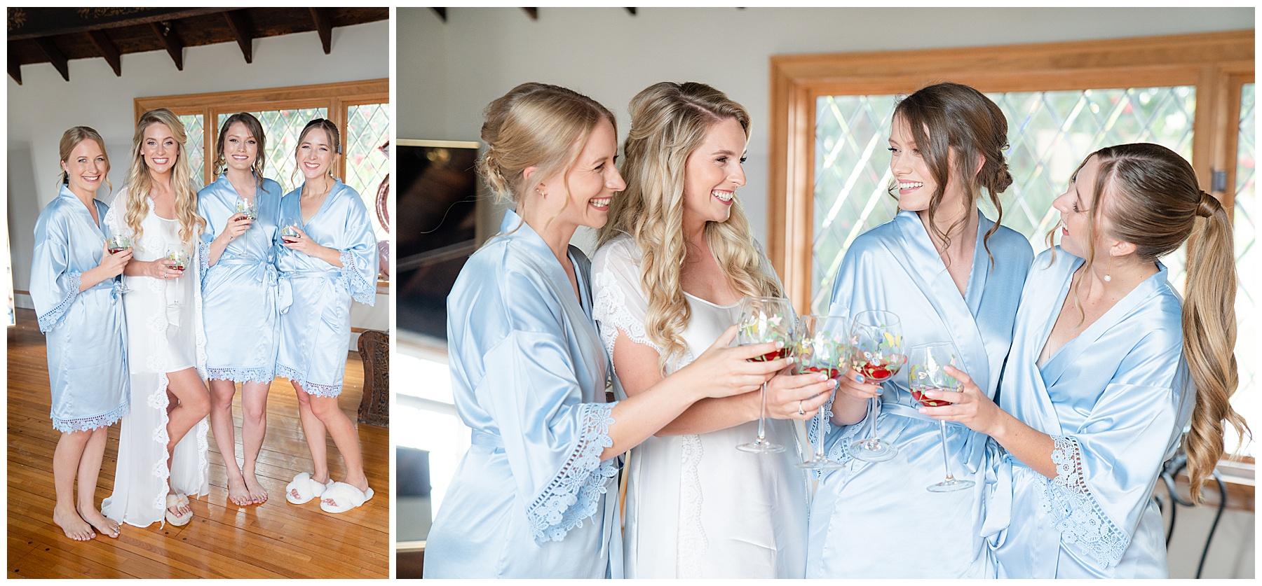 sky blue bridesmaids ribes