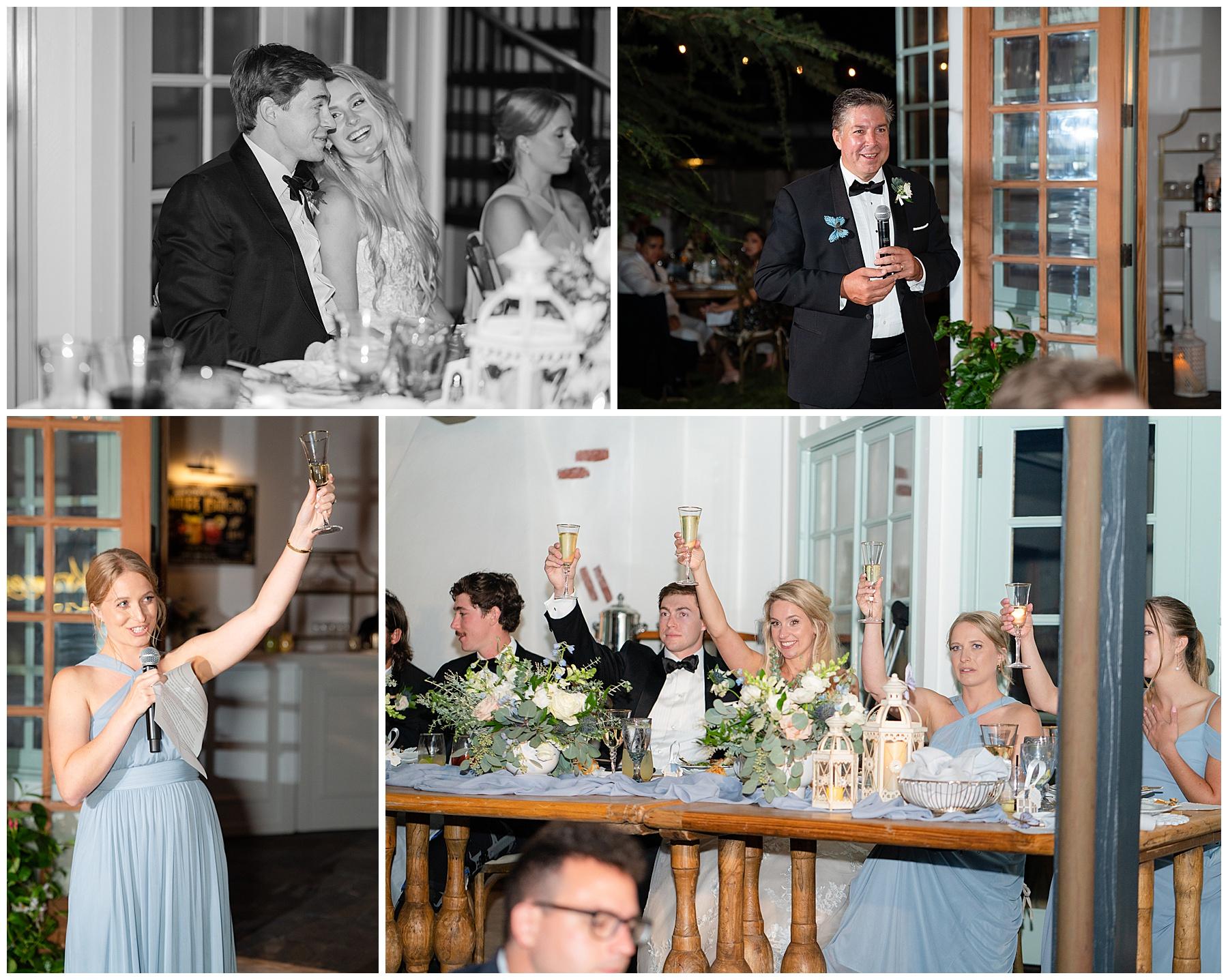 backyard wedding toasts