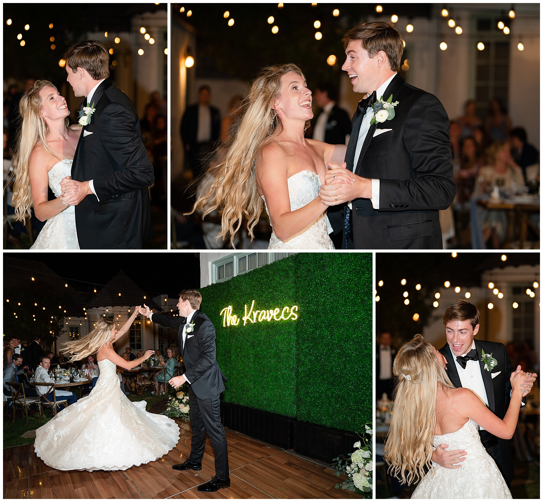 backyard wedding first dance