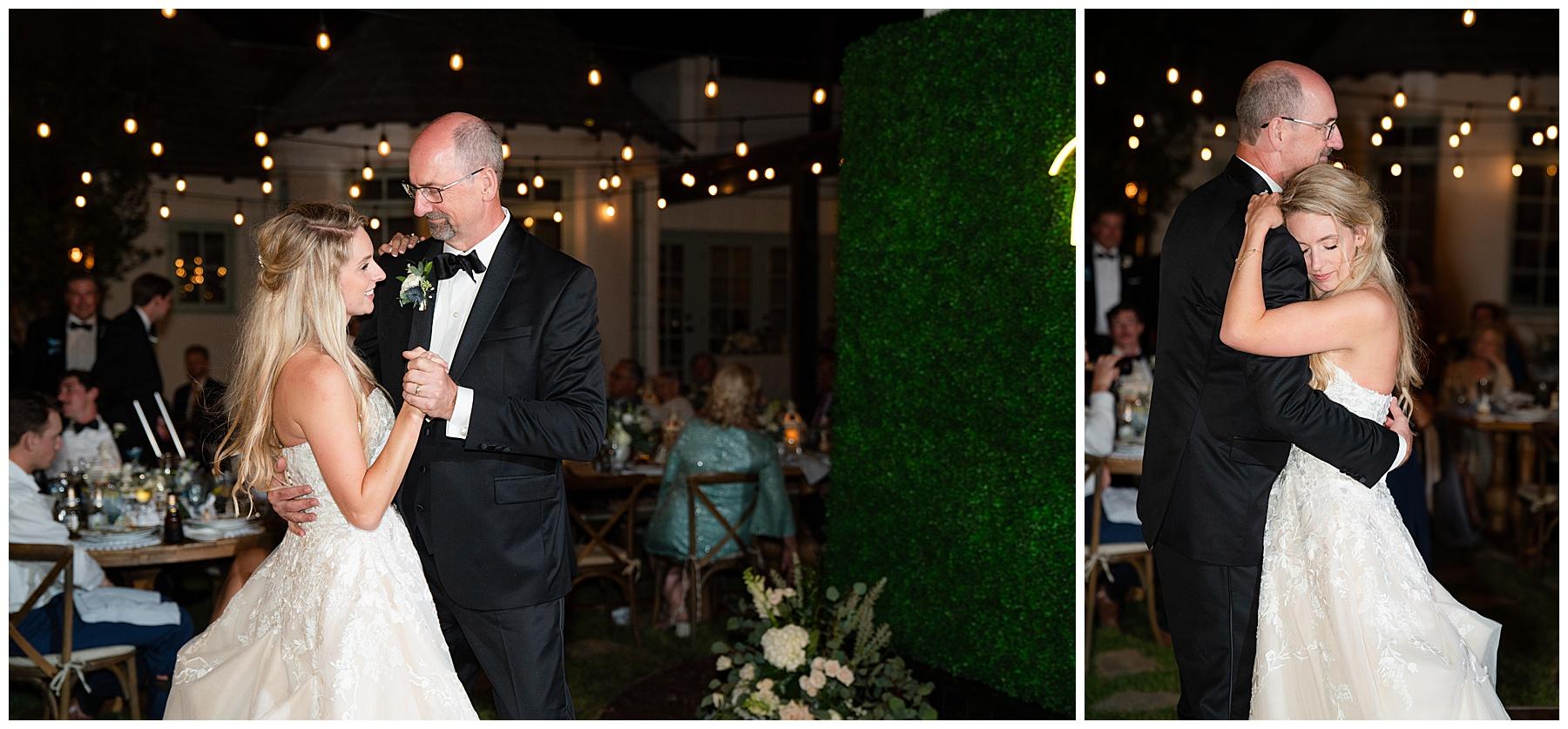 backyard wedding father daughter dance