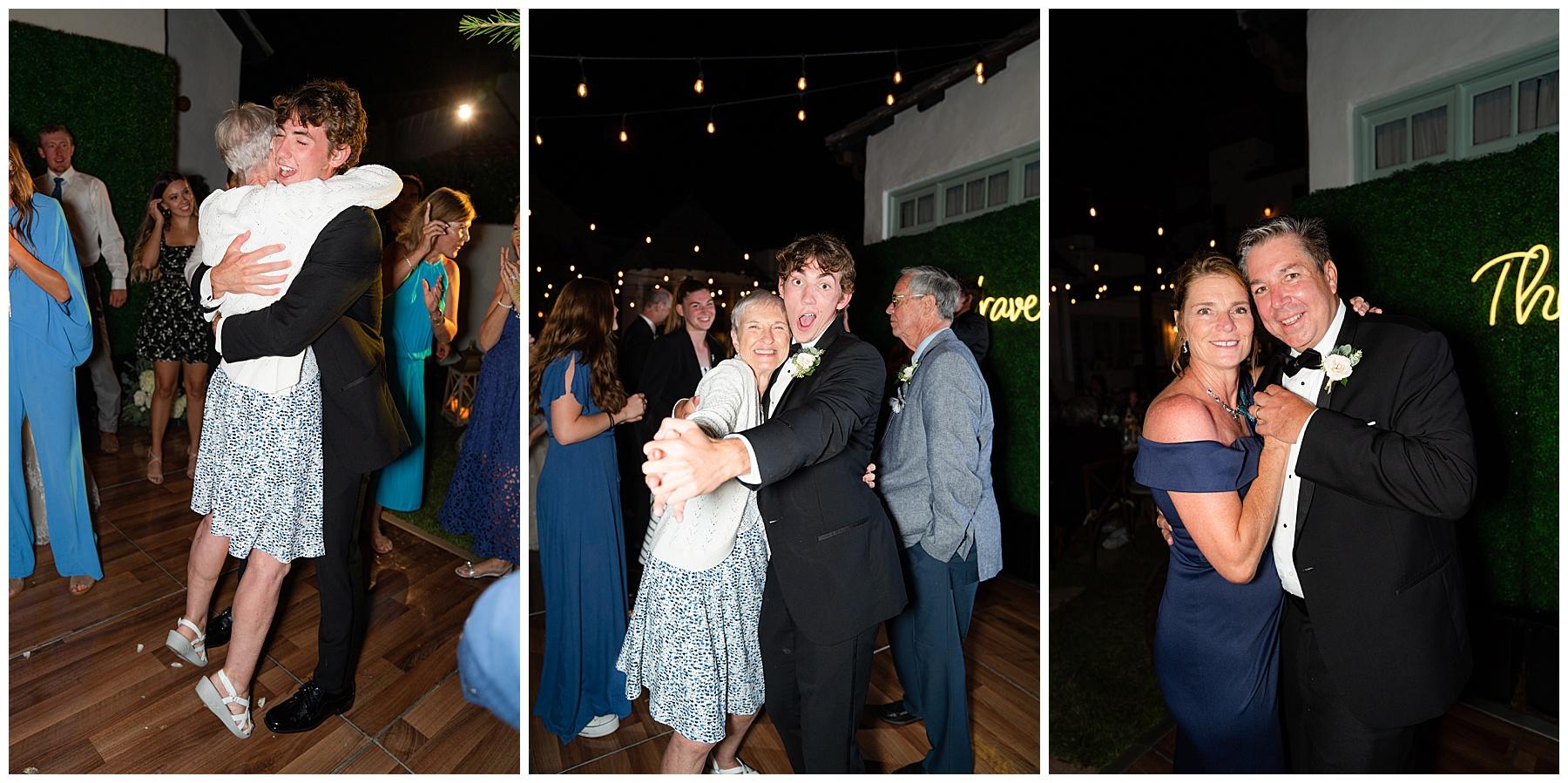 backyard wedding dance floor