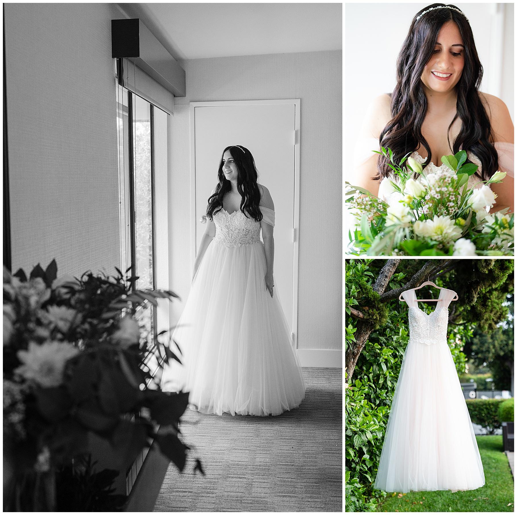 princess bride standing at door