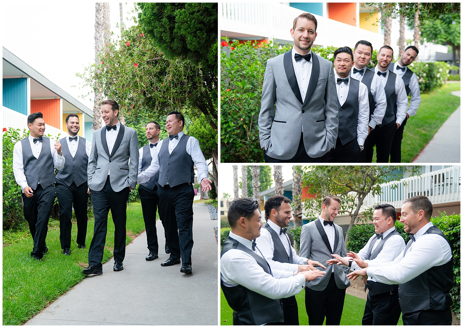 anaheim hotel groomsmen getting ready