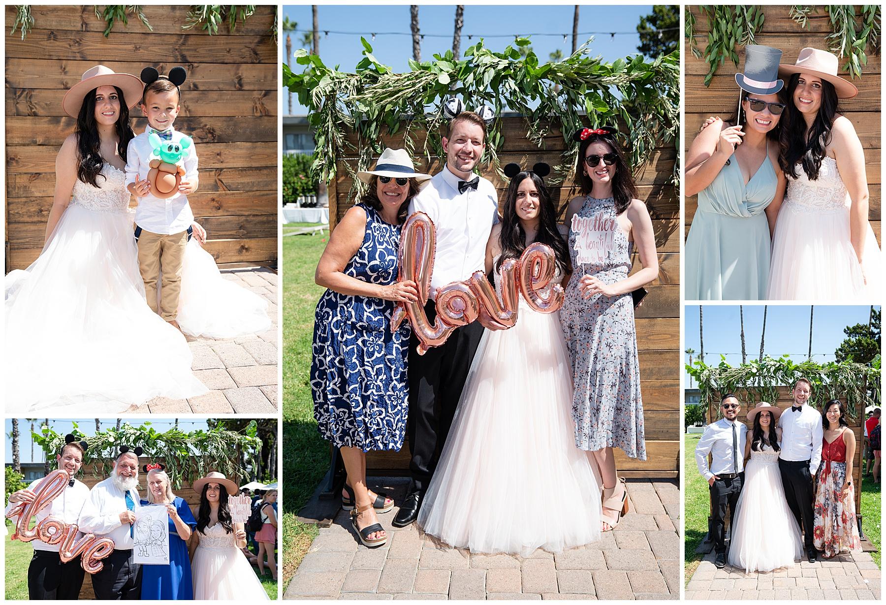 wedding day photo wall