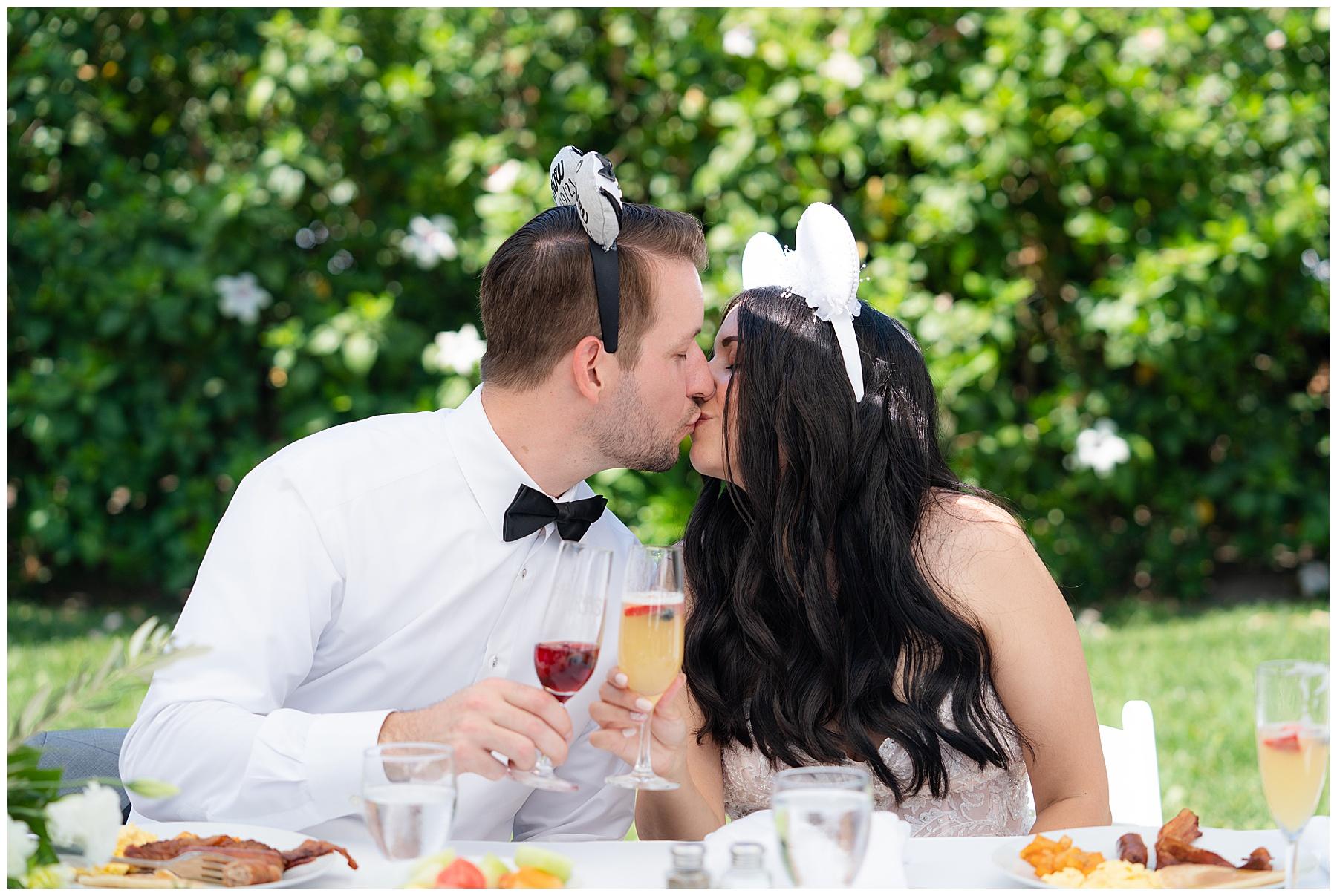 mickey ears bride and groom