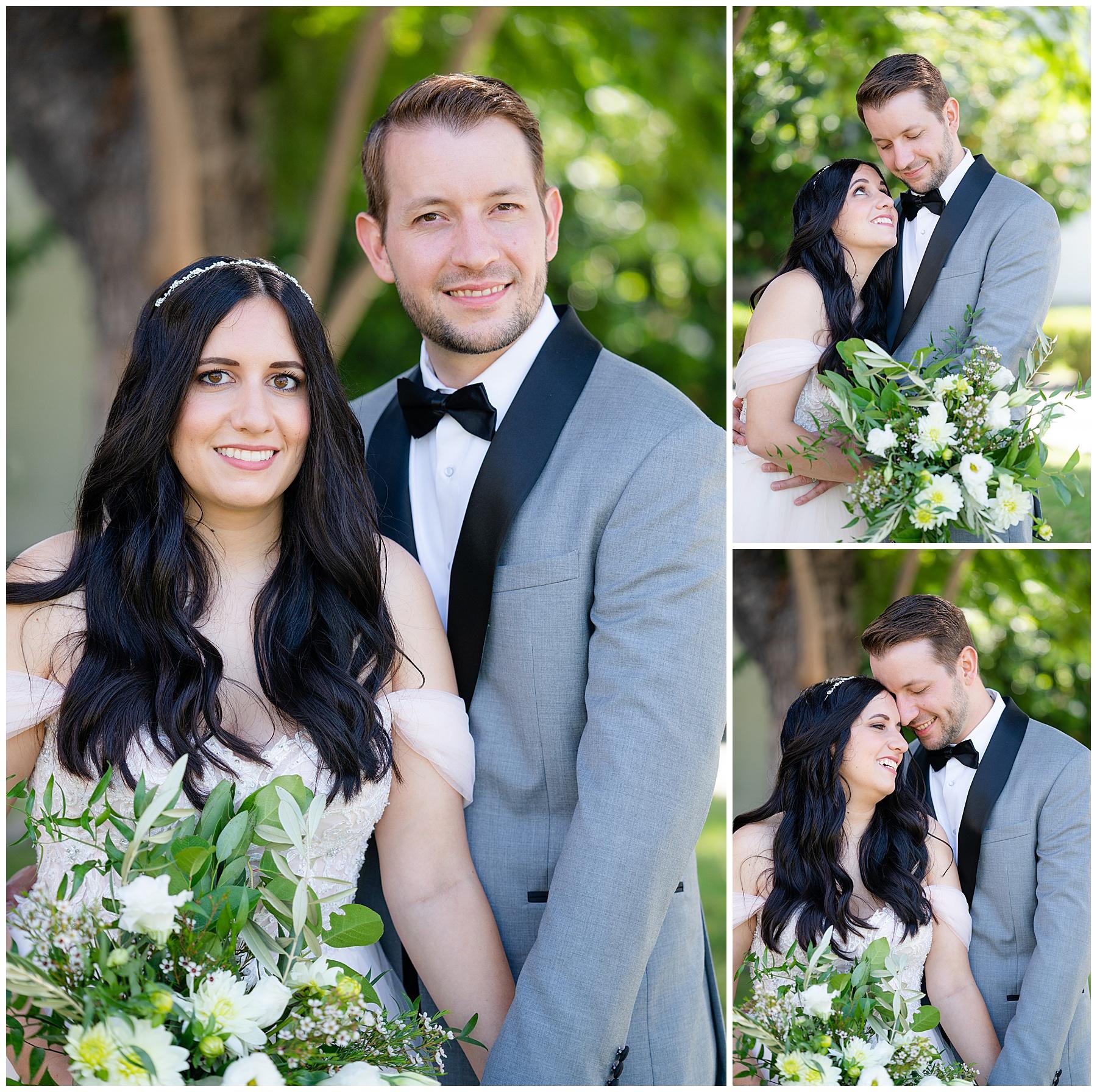 bride and groom wedding portraits anaheim hotel