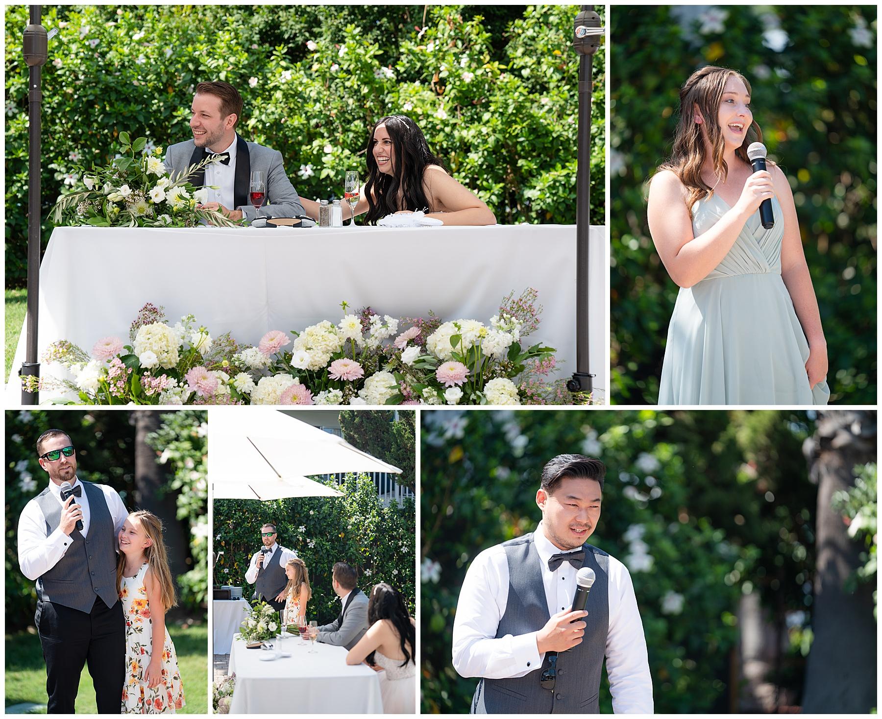 wedding toasts outdoors
