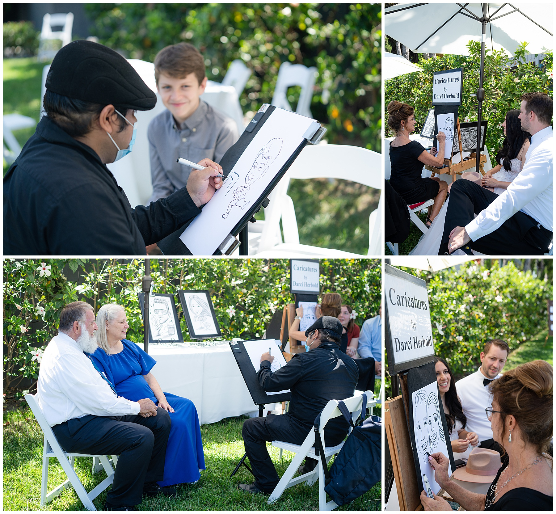 wedding day caricatures
