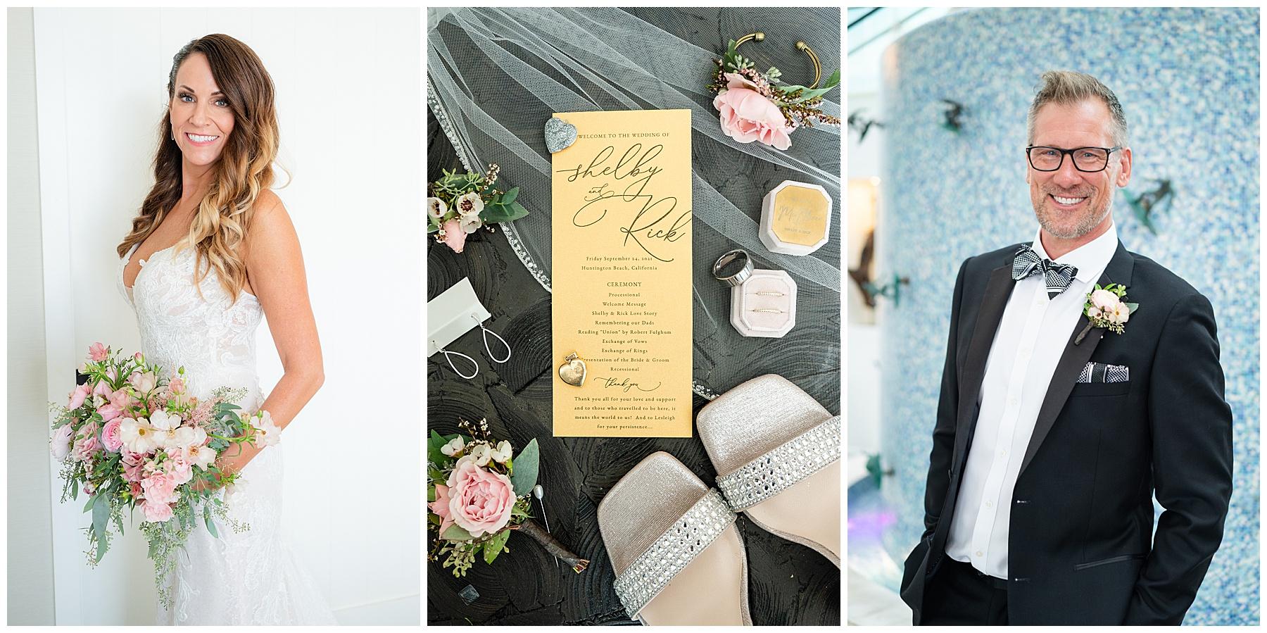 bride and groom details