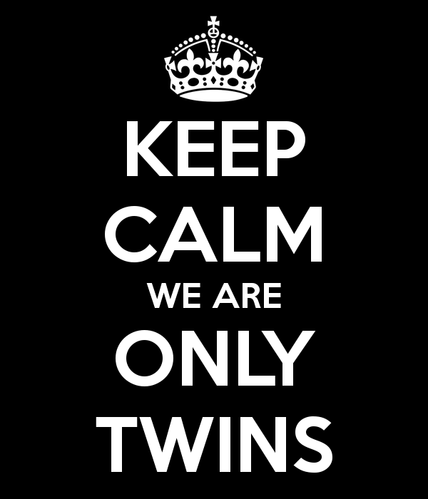 keep calm we are only twins