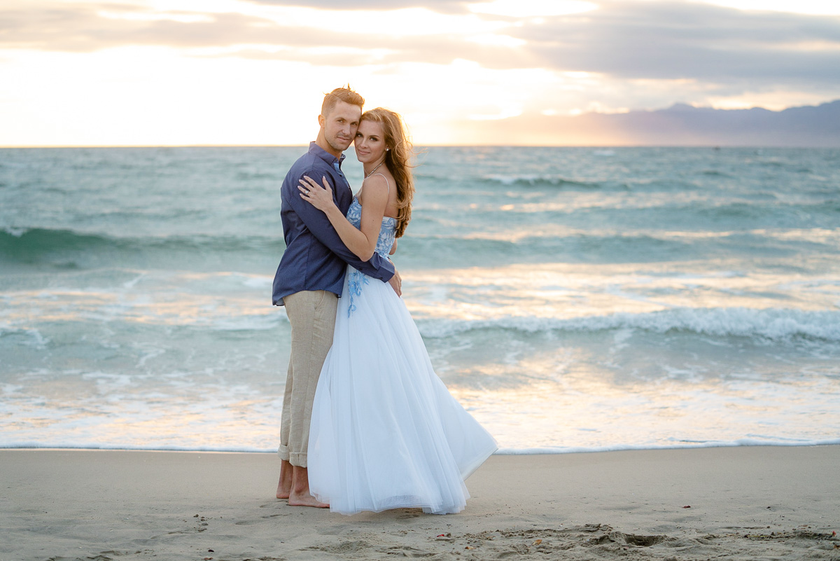 sunset engagement photo play del Rey