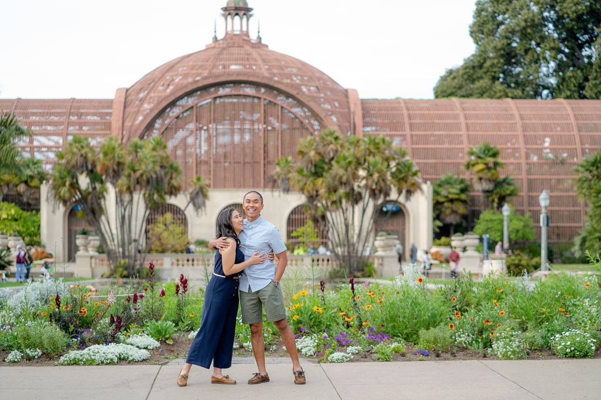 balboa park engagement session