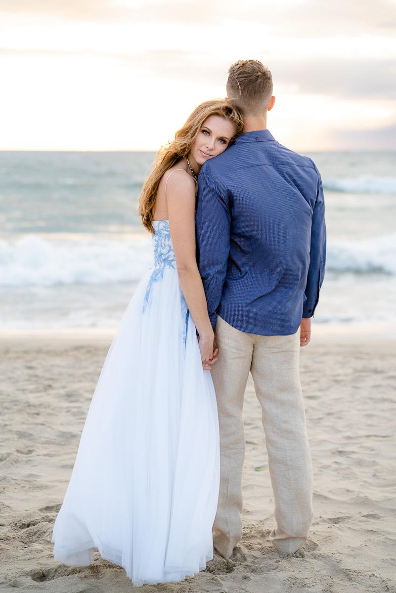 romantic beach engagement session