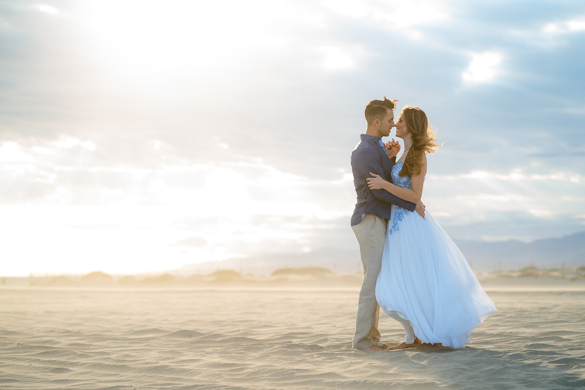 epic engagement on beach