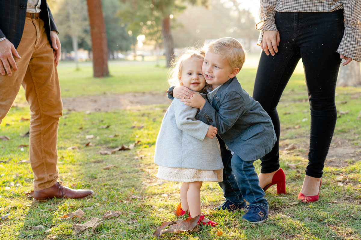 brother kissing his sister