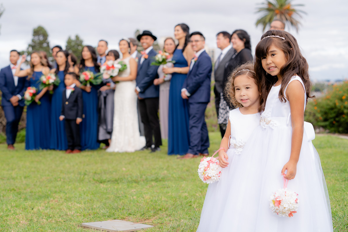 flower girls and wedding party