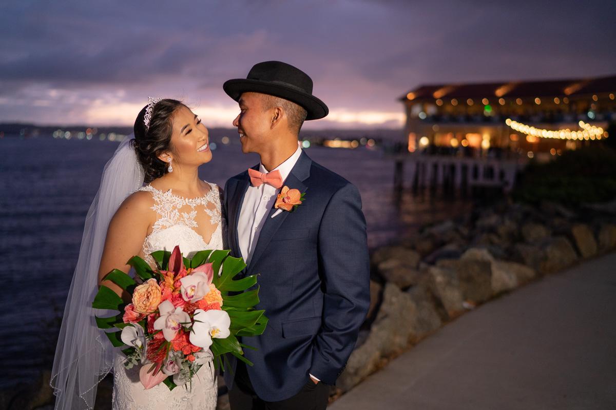 tom ham's lighthouse wedding photos