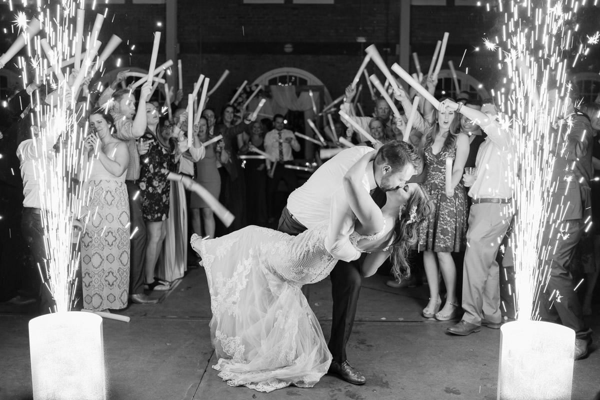 wedding sparkler exit photography
